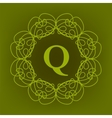Monogram Q Design vector image