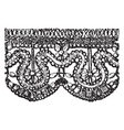 old point lace border is a form of textile art vector image vector image