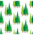 pattern with green spruces vector image vector image