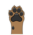 paw dog up pet vector image vector image