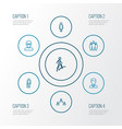 person outline icons set collection of team vector image vector image