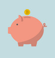 piggy bank bitcoin vector image