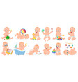 playing babies cute infant baby boy or girl vector image