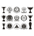 prize and awards collection vector image vector image
