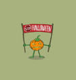 pumpkin with the words stop halloween vector image