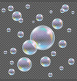 Realistic transparent soap bubbles with vector image vector image