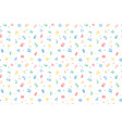 seamless pattern of kids toys baby background vector image vector image