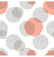 seamless pattern with round dotted elements and vector image vector image