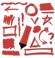 Set of Graphic Signs vector image
