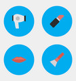 set of simple glamour icons vector image vector image