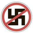 sign of ban fascism vector image vector image