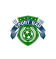 soccer bar or football sport pub icon vector image
