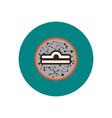 Stylish icon in color circle zodiac sign libra