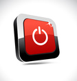 Switch 3d square button vector image vector image