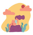 trendy flat character woman in swimsuit and vector image vector image