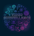video surveillance colored round vector image vector image