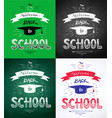 welcome back to school posters vector image vector image