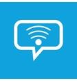 Wi-Fi message icon vector image vector image