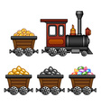 Train with mine tubs vector image