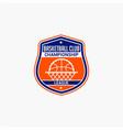 basketball club badge logo-6 vector image vector image