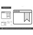 Bookmark line icon vector image vector image