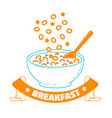 breakfast good morning vector image