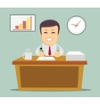 business person working in office hour vector image vector image
