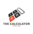 calculator logo icon design template vector image