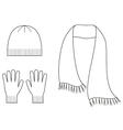 Cap gloves scarf vector image vector image