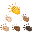 clapping hands sign emoji vector image vector image