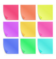 Color post its paper stickers for notes set vector image vector image