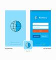 company clock splash screen and login page design vector image vector image