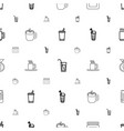 cup icons pattern seamless white background vector image vector image
