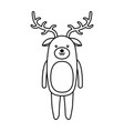 cute line icon deer cartoon vector image vector image