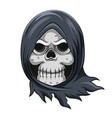 dead skull grim reaper with steal blue vector image