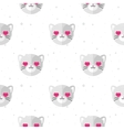 flat cartoon cat in love seamless pattern vector image vector image