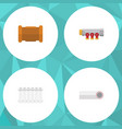 flat icon sanitary set of radiator pipe pipework vector image vector image