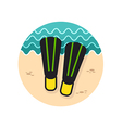 Flippers icon Summer Vacation vector image vector image