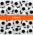 football ball background vector image vector image