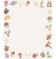 Frame with woodland icons vector image vector image