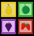 fruit in a photo frame vector image vector image