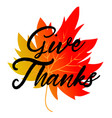 give thanks typography and background design vector image vector image