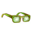 glasses vision correction accessory color vector image vector image
