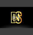 gold black alphabet letter bs b s logo vector image vector image