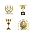 gold shiny rewards for winners and champions set vector image vector image