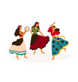 gypsy girls dancing flat vector image