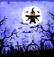 halloween background with scarecrow vector image vector image
