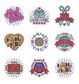handmade needlework craft badges sewing fashion vector image