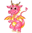 Happy dragon isolated on transparent background vector image vector image