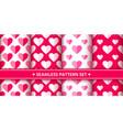 heart seamless pattern set love valentine romantic vector image vector image